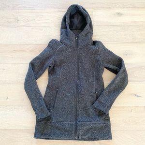 Athleta hooded full zip jacket grey xs